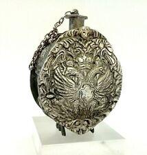 GOURDE Russe Saint-Chrême Bronze Métal Aigle Impérial Anges XIXe