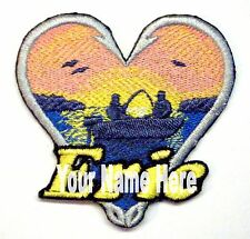 Fishing Custom Iron-on Patch With Name Personalized Free