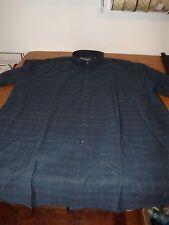 MENS J. FERRAR PLUS SIZE DRESS SHIRT 2XL - XXL NAVY BLUE PLAID NWT BIG & TALL