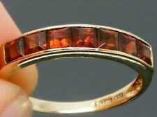 9ct Gold Garnet Hallmarked 1/2 eternity Ring size O