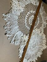 vintage hand made crochet Doilies Tablecloth Wirh Flap  Total  M-8