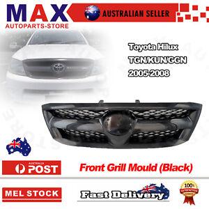 Front Matte Black Grille for Toyota Hilux TGN/KUN/GGN 05-08 SR/SR5/Workmate/DLX