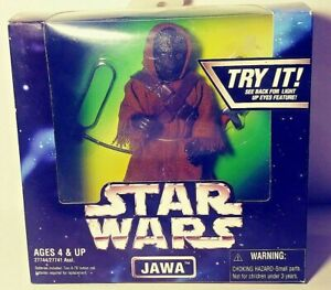 Star Wars Jawa action figure light up eyes still work MIP