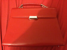 *NWT* CAMI INTERNATIONAL (Newport News) Red Genuine Leather Purse / Briefcase