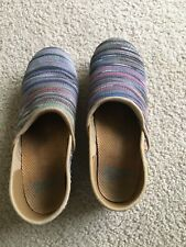 Dansko Multi Colored Womens Size 38 US 8 Slip On Clog Shoes