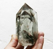 533g Multilayer Red/Green Phantom ! Natural Clear Quartz Point Crystal Healing
