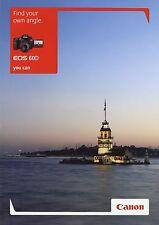 Prospekt 2010 gb Canon EOS 60d folleto cámara brochure Camera photografica