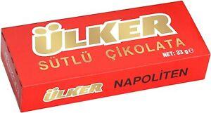 Ulker Napoliten Milk Chocolate - 33gr. (Pack of 1) Ülker Napolıten Çikolata