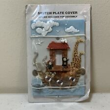 New Noah's Ark 3D Switch Plate Cover With Matching Screws Hardware Nursery