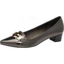 Elegante PATRIZIA DINI Damen Slipper ECHT LACK LEDER Pumps Schuhe in Braun Gr 38