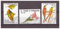 Sao Tomé und Principe, Kolibris MiNr. 1112 - 1114, 1989 used