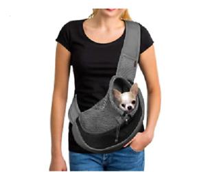 YUDODO Pet Sling Bag Carrier Breathable Mesh Travel Safe for Dog/Cat Small Black