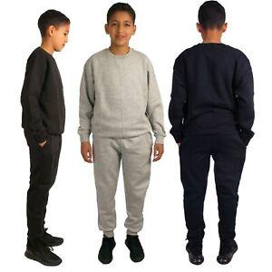 Boys Kids Tracksuit Running Gym Sports Jogger Jogging Bottoms Sweatshirt Top
