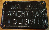 Antique 1941 Indiana Black License Plate Weight Tax Hoosier Classic Car Wall Art
