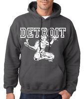 THE SPIRIT OF DETROIT CHARCOAL HOODIE Hooded Sweatshirt Motor City Lions Red Mi