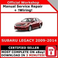 FACTORY WORKSHOP SERVICE REPAIR MANUAL SUBARU LEGACY 2009-2014 +WIRNG