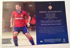 2016 Topps UEFA Champions 5x7 GOLD (#/10) SERGEI IGNASHEVICH Moskva Russia #43