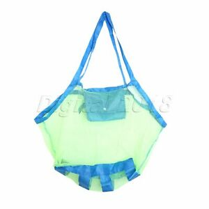High Quality Beach Mesh Bag Tote Children Kids Carry Treasures Toy Pouch Storage