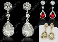 Unbranded Crystal Pear Costume Earrings