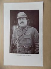 Lawrence of Arabia Book Page, 2 Sides, General Jafaar Pasha & Mountain Guns