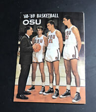 1968-69 Oregon State Beavers College Basketball Pocket Schedule