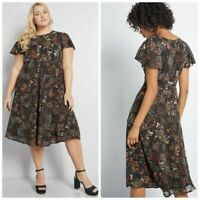 new MODCLOTH ' Embellished To Perfection ' Floral Dress SIZE 2X ~ NWOT $99 ~