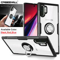 For Samsung Galaxy Note 10 S10 Plus S10e Case Shockproof Clear Ring Stand Cover