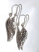 Art Deco Sterling Silver Marcasite Earrings.