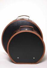 Loevenich Hutkoffer schwarz/cognac 50cm Hutschachtel Hutkarton Karton Schachtel
