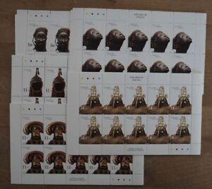 2002 Angola; 100 Serien Masken, MiNr. 1660/64, postfrisch/MNH, ME 1000,-