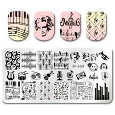 Nail Art Stamp Plates Music Style  Image Template DIY Born Pretty
