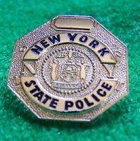 NY  NEW YORK STATE POLICE MINI BADGE PIN - NEW POLICE LAPEL PIN