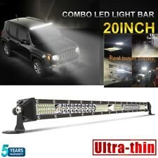 20'' Bull Bar Hidden Bumper Working Fog Lamp LED Light Bar FOR Slim Combo Beam