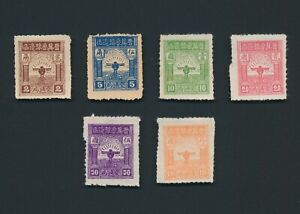 CHINA STAMPS 1946 LIBERATED AREAS NORTH CHINA BIRD ROULETTE SET YANG #NC193/8