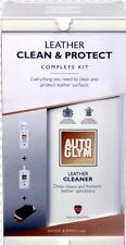 Autoglym Car Care Leather Clean And Protect Kit Stain Repair Restore Conditioner