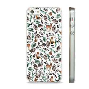 WOODLAND ANIMAL DEER FOX SQUIRREL PHONE CASE COVER FITS All APPLE IPHONE MODELS