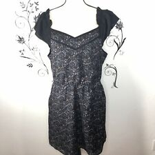 I Heart Ronson Floral Print Dress Ruffle Sleeves Has Pockets XL fitted waist