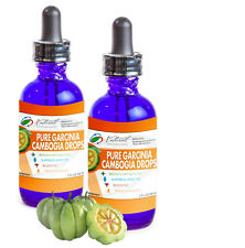 Two 2oz Bottles of Pure Garcinia Cambogia Drops 60% HCA 500MG. 60 Day Supply.