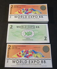 Lot of 100 pieces - Australia 1988 World Expo - $2 Notes - Bicentenary