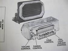 1954, 1955 DESOTO 829 MOPAR RADIO PHOTOFACT