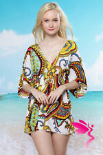 Sexy Para mujeres Vestido de Playa Rojo Blanco Amarillo Real verano encubrir Bikini