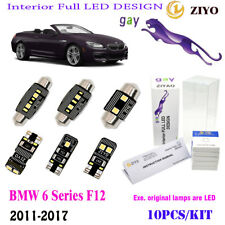 10Pc LED HID White 6K Interior Lamp Kit Fit BMW 6Series F12 Cabriolet Error Free