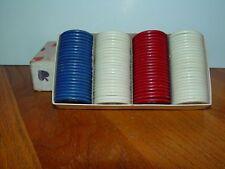 "Vintage StackWell Harvite Poker Chips in original box 1.5"" dia Nonskid Design"