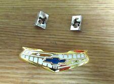 1955 1956 CHEVY BELAIR HORN RING CENTER CAP EMBLEM Gold 6 CYLINDER , NEW