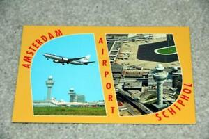AMSTERDAM AIRPORT POSTCARD