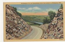 USA, Williamsport, Pa. & Susquehanna River from Montgomery Pike Postcard, B234