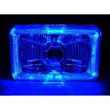 4X6 Blue Halo Angel Eye Halogen H4 Headlights Headlamp Bulbs Crystal Clear One
