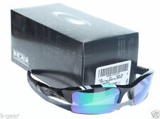 OAKLEY Flak Jacket XLJ POLARIZED Sunglasses Black/Jade Iridium NEW MPH OO9009