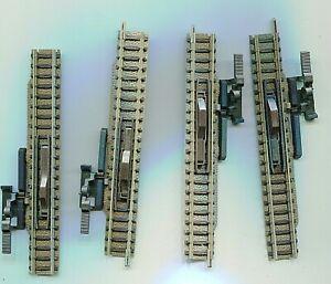 4 x FLEISCHMANN   9114    Manual uncoupling track    N Gauge