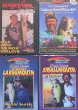 Largemouth Smallmouth Bass Fishing Tactics Techniques 4 DVD Lot NEW 5 Hours
